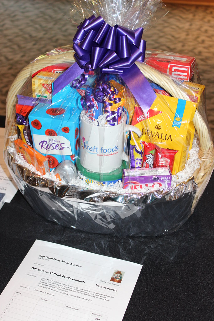 Silent Auction  Four Gift baskets with Kraft Foods Produc  Flickr