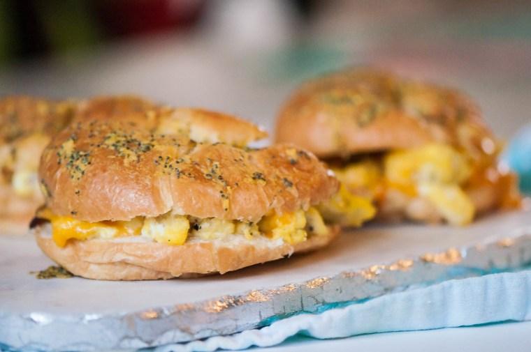 Baked Brekfast Croissant Sandwiches 9