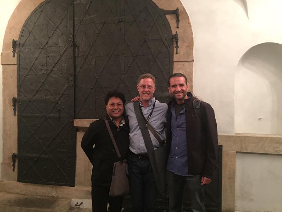 Marc Ramirez, Lloyd Goldstein, and Jason Heath in Prague