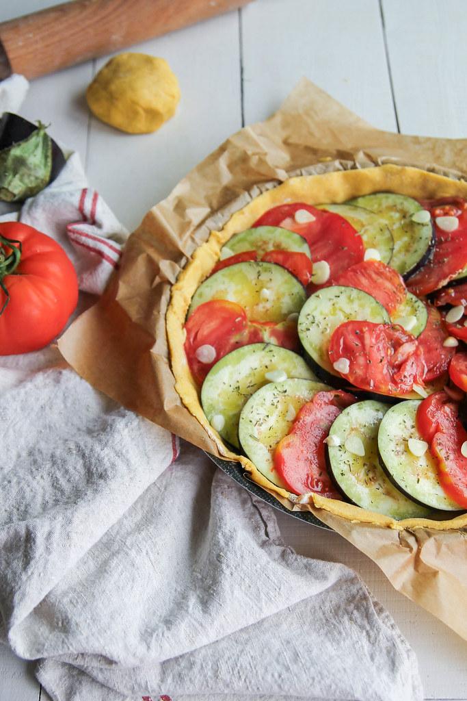 Tarte aux légumes d'été {sans gluten- sans lait}