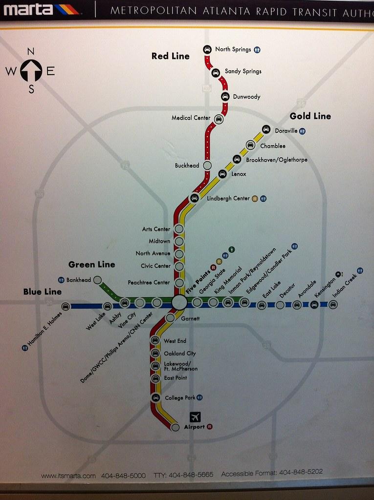 MARTA map (10/12) | MARTA rail map. circa October 2012. | airbus777 | Flickr