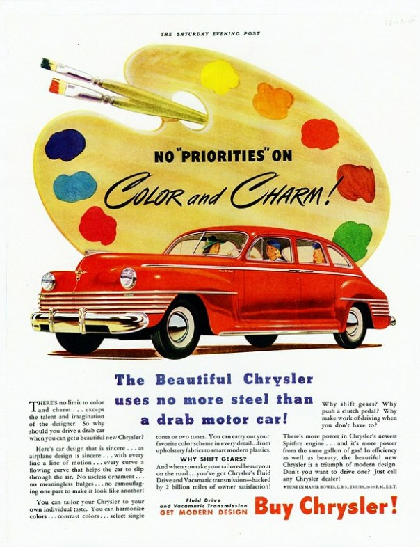 1942 Chrysler New Yorker Sedan - published in The Saturday Evening Post