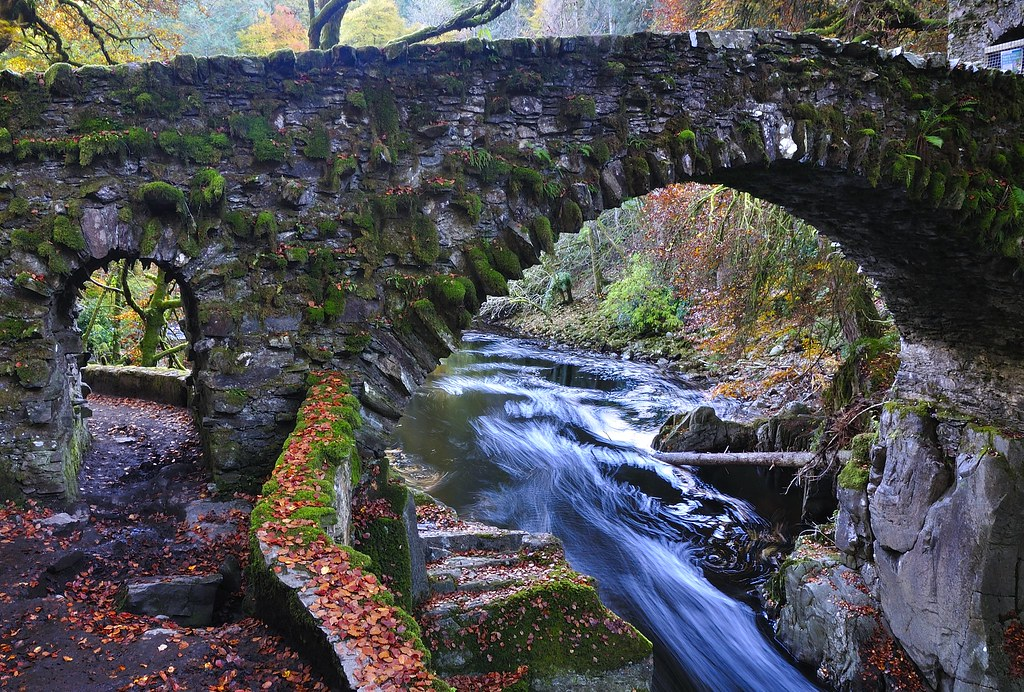 The bridge at The Hermitage Dunkeld  The bridge that