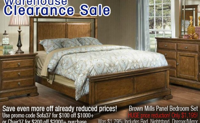 Max Furniture Warehouse Clearance Sale Brown Mills Panel B