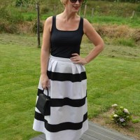Outfit of the week : black 'n white skirt