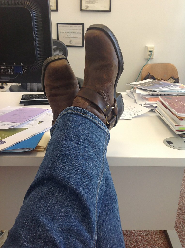 ipad Camera 2 jeans and boots feet on desk  Best
