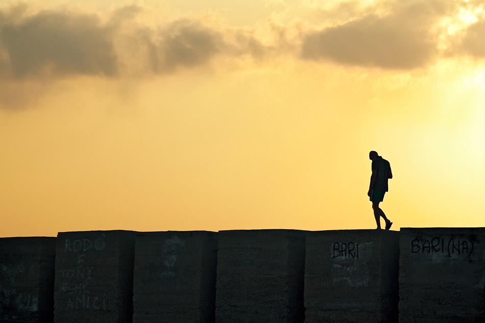 Lonely Man Walking on the edge  Santa Maria Al Bagno  Le  Flickr