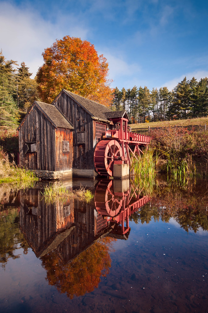 New England Fall Wallpaper Free The Old Grist Mill The Grist Mill In Guildhall Vermont