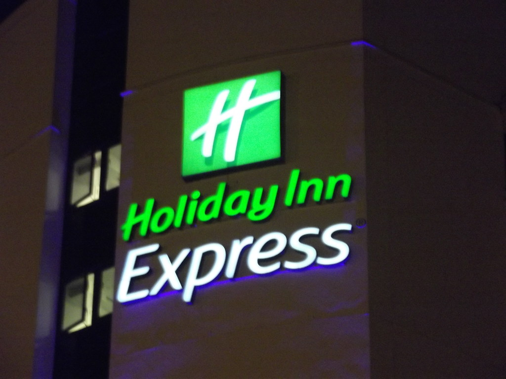 Holiday Inn Express North Greenwich  sign  In North