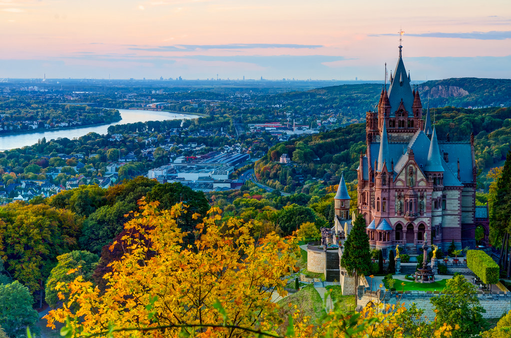 Facebook Wallpaper Fall Colors Drachenburg Dragon Castle Siebengebirge Germany Flickr