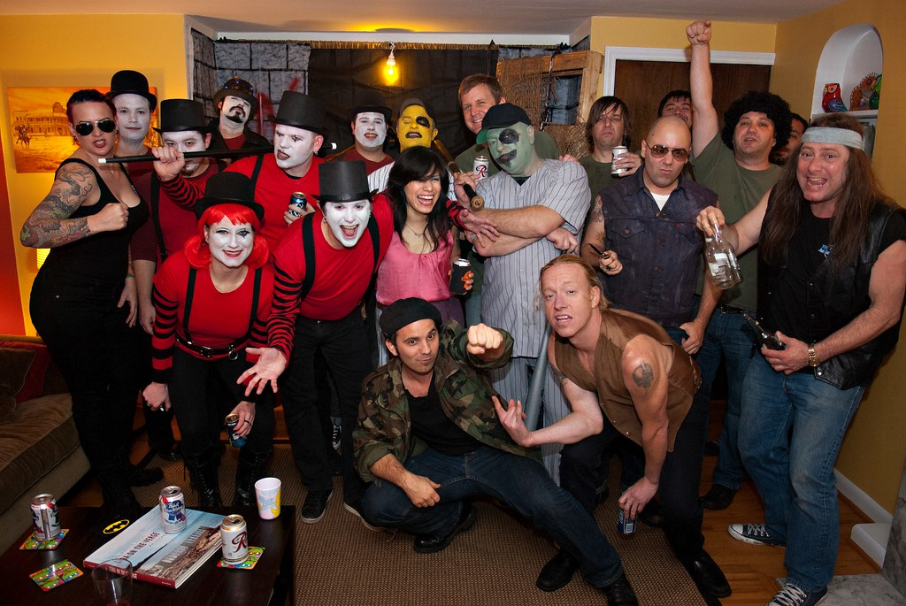 Gangs from the Warriors Halloween Party group shot  Flickr