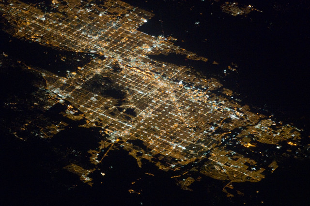 PhoenixMesaGlendale Arizona at Night NASA Internation