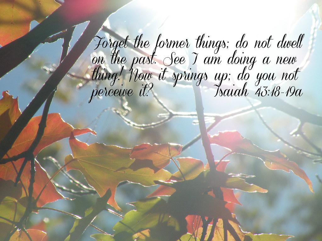 Fall Autumn Wallpaper Isaiah 43 18 19a Sapphire Dream Photography Flickr