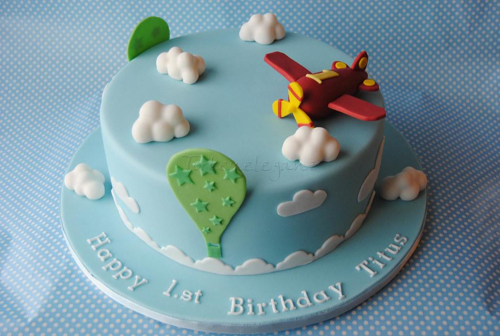 Flugzeug Torte fr Titus 1 Geburtstag  Airplane Cake