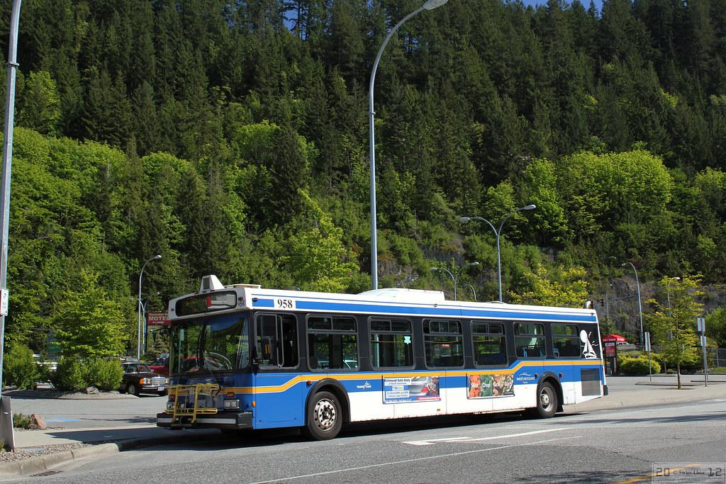 Trans Link West Vancouver Blue Bus  A rather confusing
