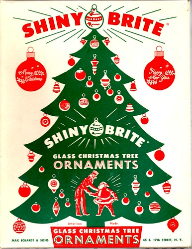 Shiny Brite Christmas Ornaments Box I LOVE The Graphics