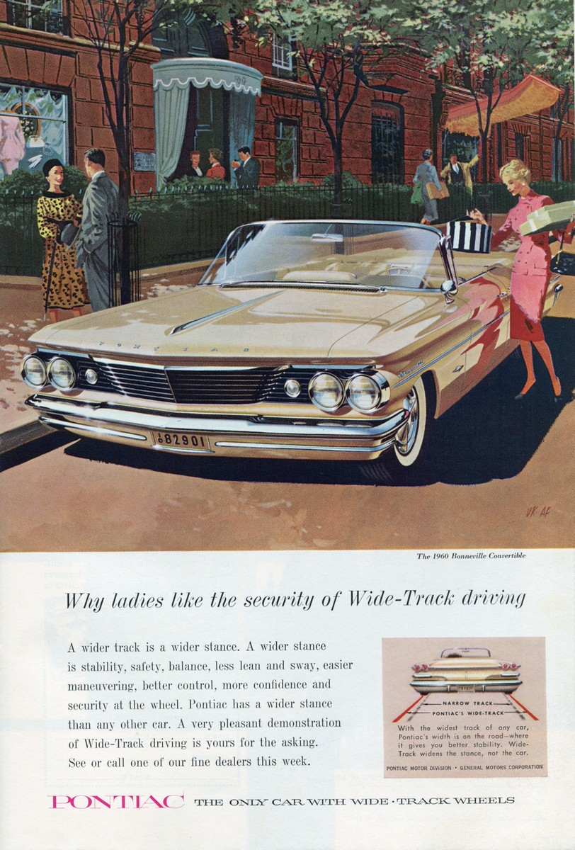 1960 Pontiac Bonneville Convertible - published in National Geographic - March 1960