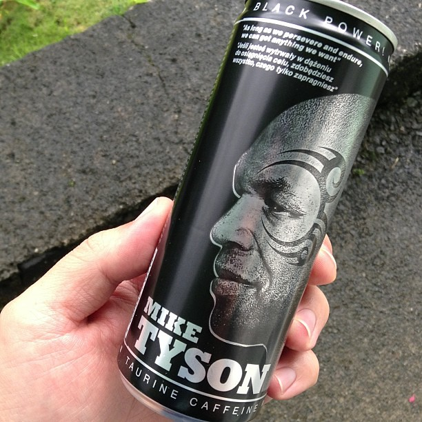 Purchased on eBay Mike Tysons Black Power energy drink f