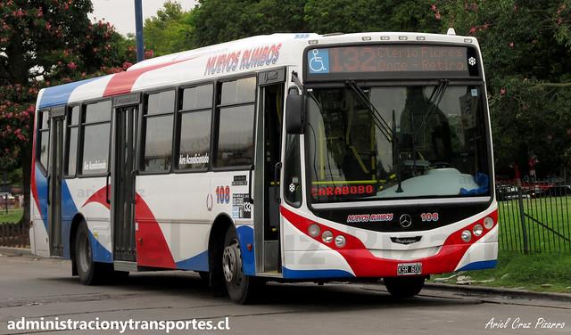 132 Buenos Aires | Nuevos Rumbos | Metalpar Iguazú - Mercedes Benz OH1718 / KSR600 - N° 108