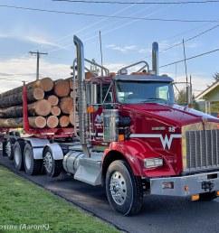wyss logging inc kenworth t800 unit 28 by truck exposure [ 1024 x 768 Pixel ]