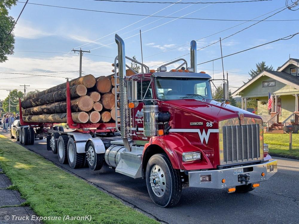 medium resolution of  wyss logging inc kenworth t800 unit 28 by truck exposure