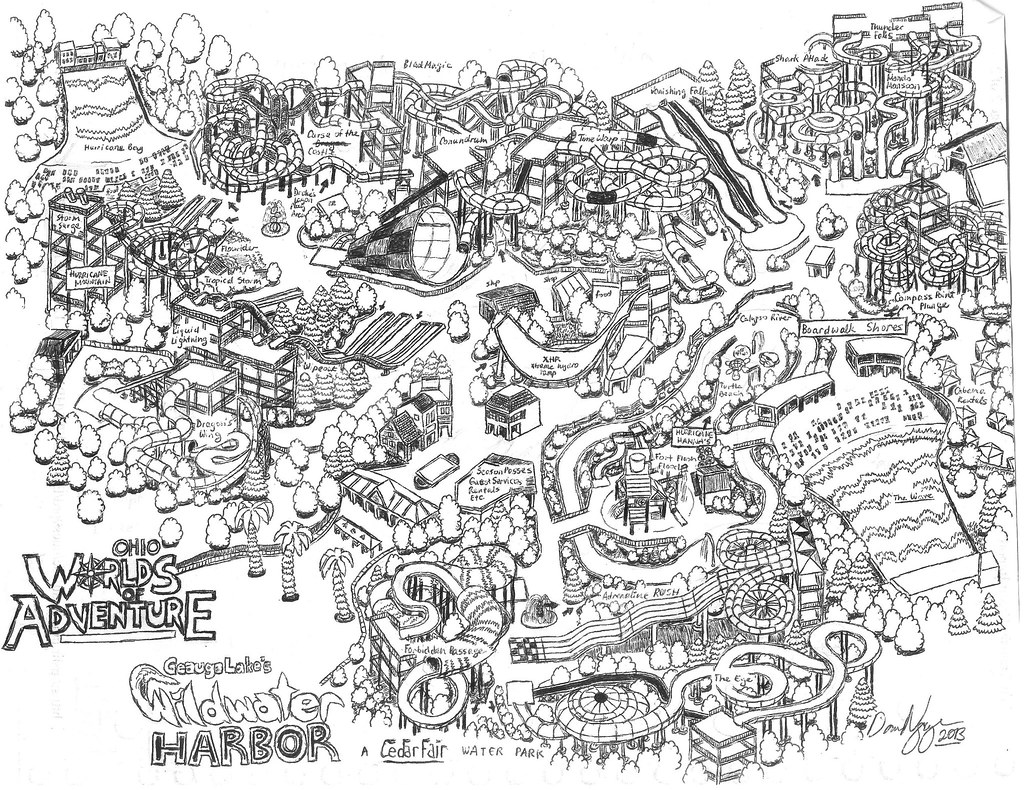Wildwater Harbor 2012 Map Ohio Worlds Of Adventure Flickr