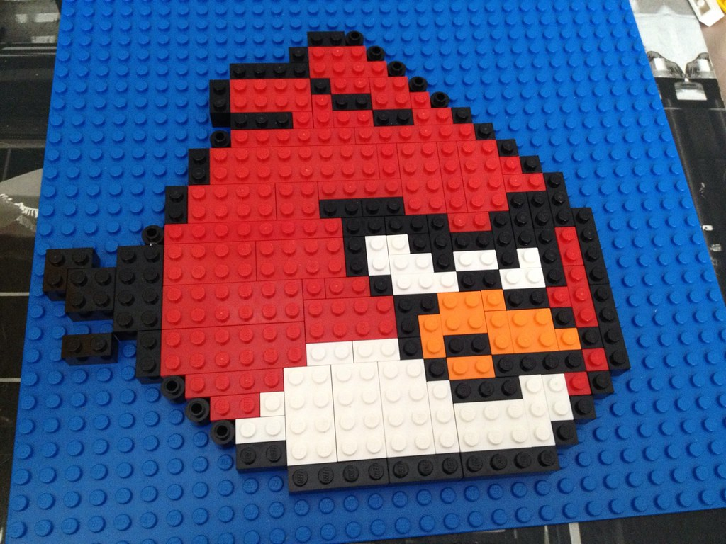 Angry Bird Lego Mosaic Second Lego Mosaic; An Angry Bird