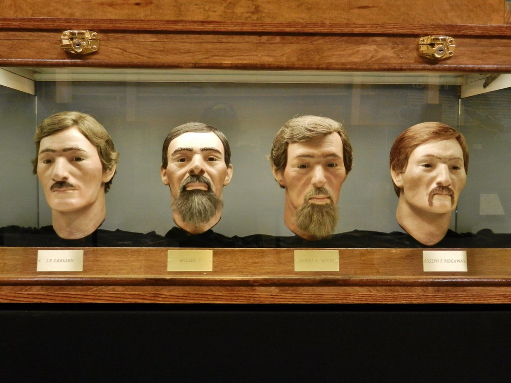 Hunley Crew Facial Reconstruction  From left to right