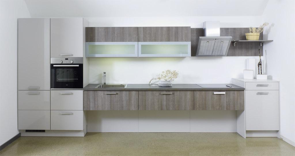 Bauformat Modern grey  distressed wood wallmounted kitch