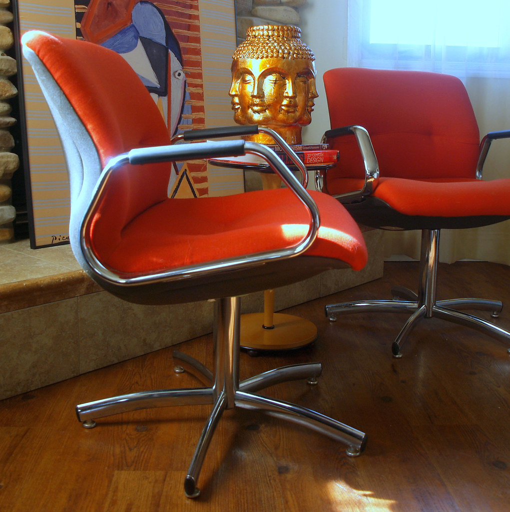 steelcase vintage chair karlstad cover charles pollock style chairs modern offi flickr office conference executive chrome swivel base mid
