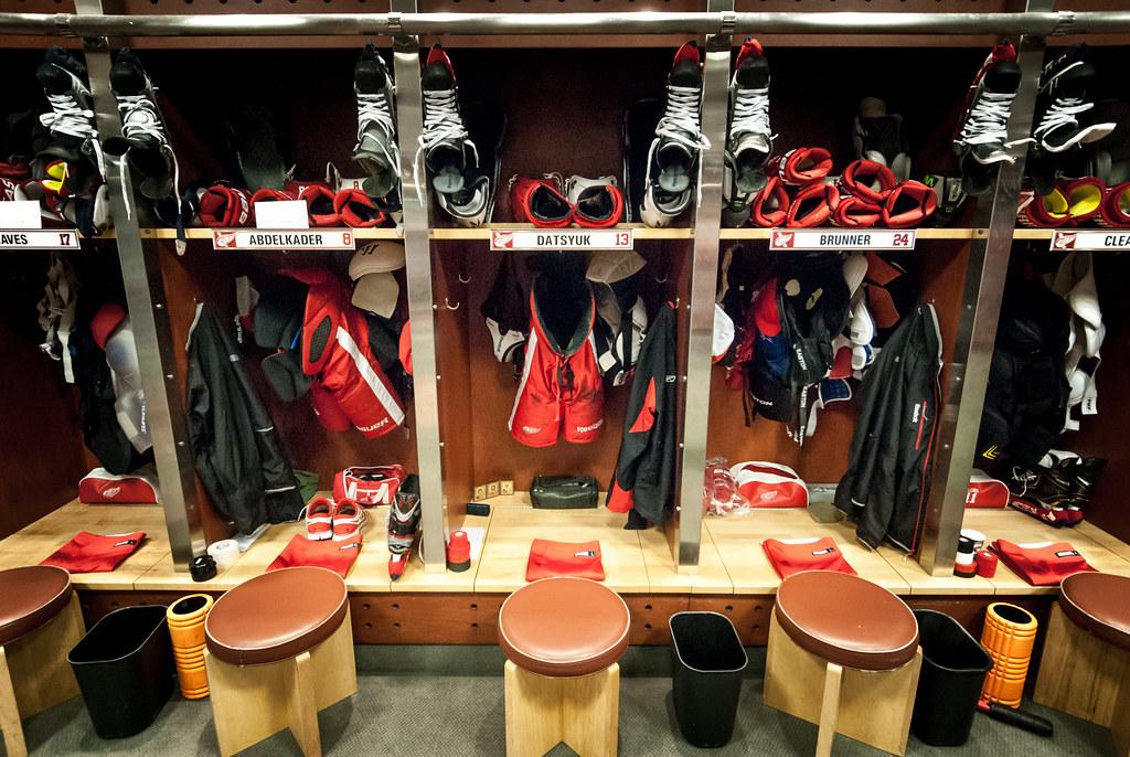 Detroit Red Wings Locker Room  The Detroit Red Wings
