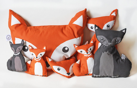 Fox pillow foxes dolls and wolfs  cut and sew pattern  Flickr