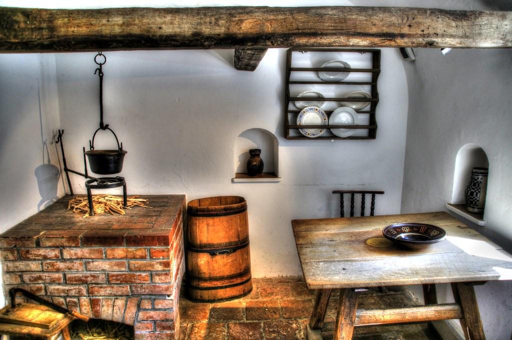 Augsburg Fuggerei Kitchen  Die 1521 von Jacob Fugger