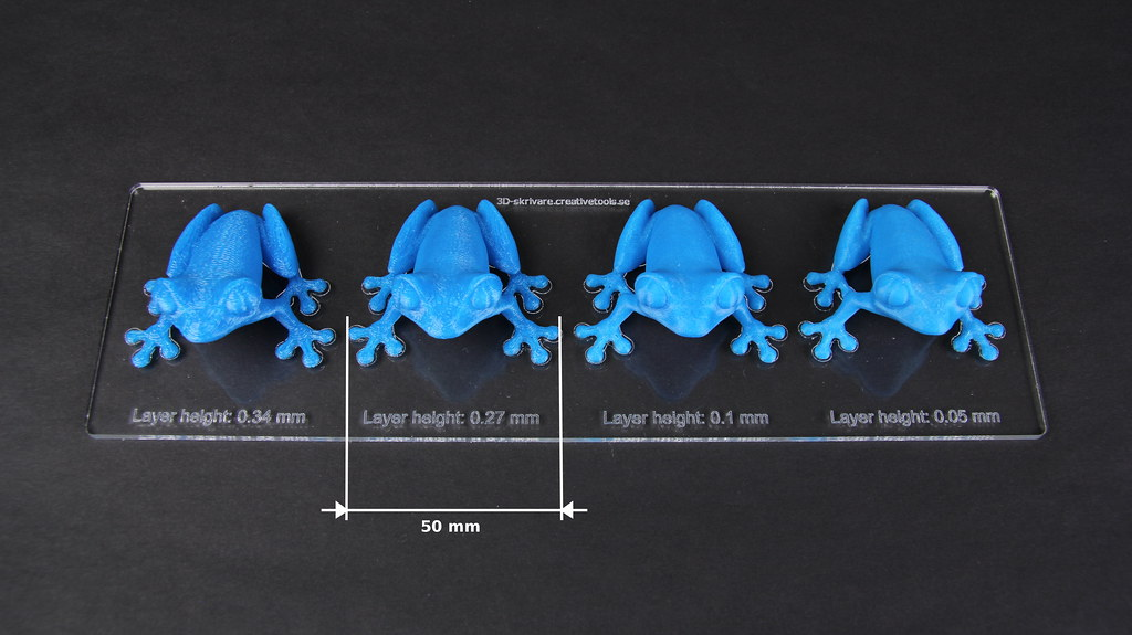 MakerBot Replicator 2 PLA Blue Frogs Layer Thickness C Flickr