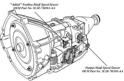 FORD 4R70E/4R75E NEW TURBINE SHAFT SPEED SENSOR 1