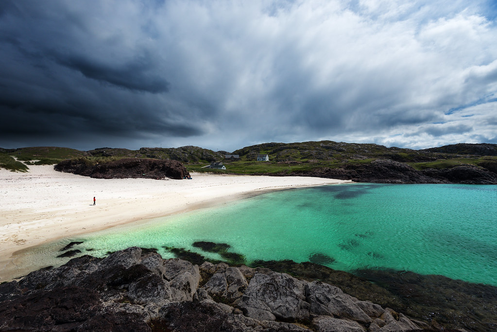 Dark Clouds Over Clachtoll Beach Clachtoll Beach Is