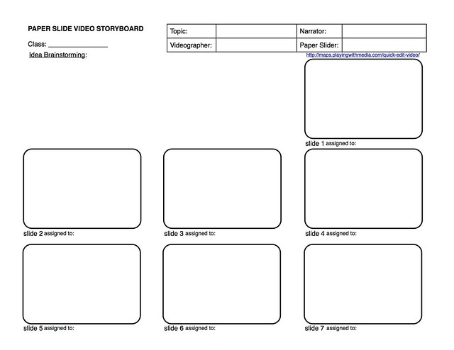 Paper-Slide Video Rubric and Planning Guide 2 of 3