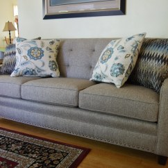 White Leather On Tufted Sofa Simmons Reclining And Loveseat 203 By Smith Brothers   This Customer Had The ...