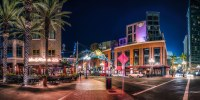 Enter the Gaslamp Quarter | A panorama of the neighborhood ...