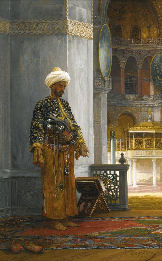 Stanislaus von Chlebowski  At Prayer Hagia Sophia 1879