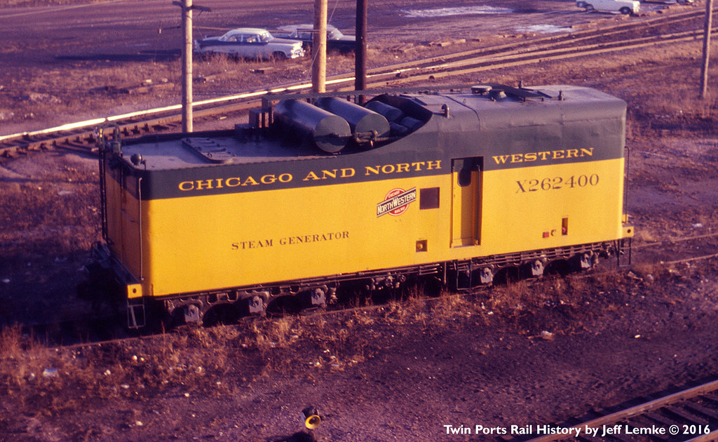 Chicago Amp North Western Steam Generator Car In December 19