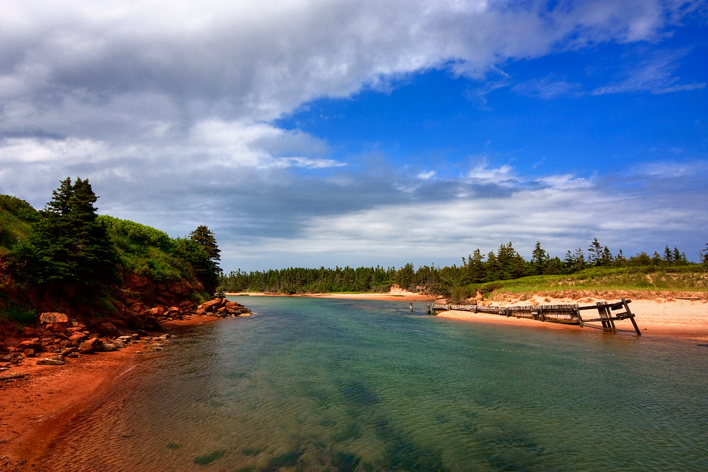 PEI Beach Scenery  HDR  Wideangle beach scenery from
