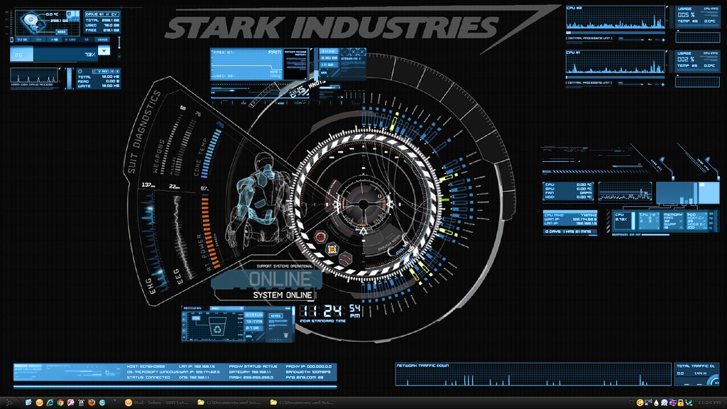 Free Hd Wallpapers Ironman Desktop Stark Industries Desktop Screenshot