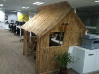 Tiki Hut Cubicle | Business.com decided to have a cubicle ...