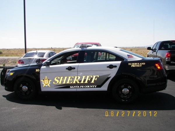 Santa Fe County Sheriff 2013 Ford Patrol Car Blue Line