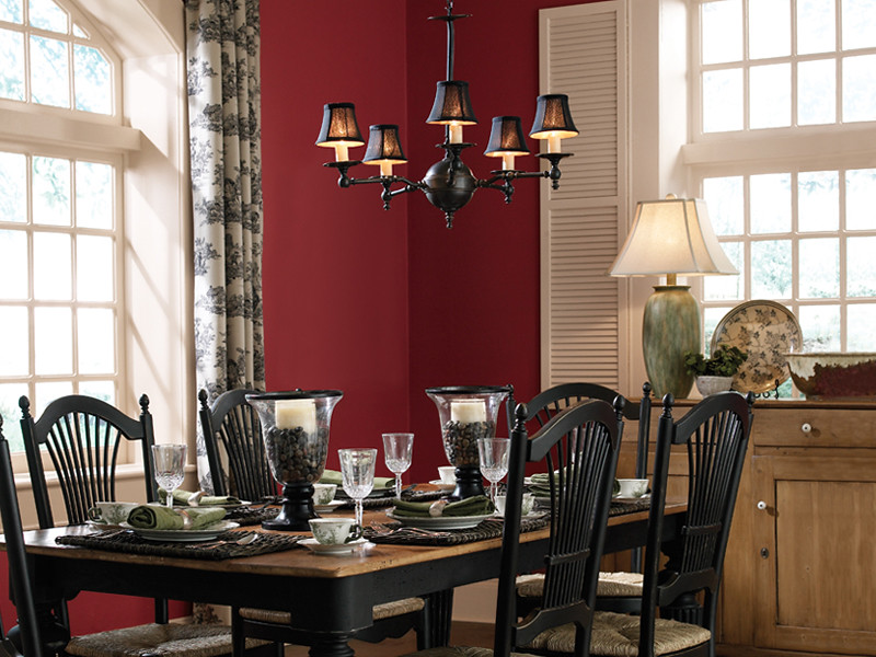 Rustic Traditional Kitchen Wall Cherry Cola S130 7 Trim