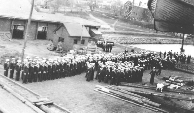 Niobe crew mustering in Halifax, 1914