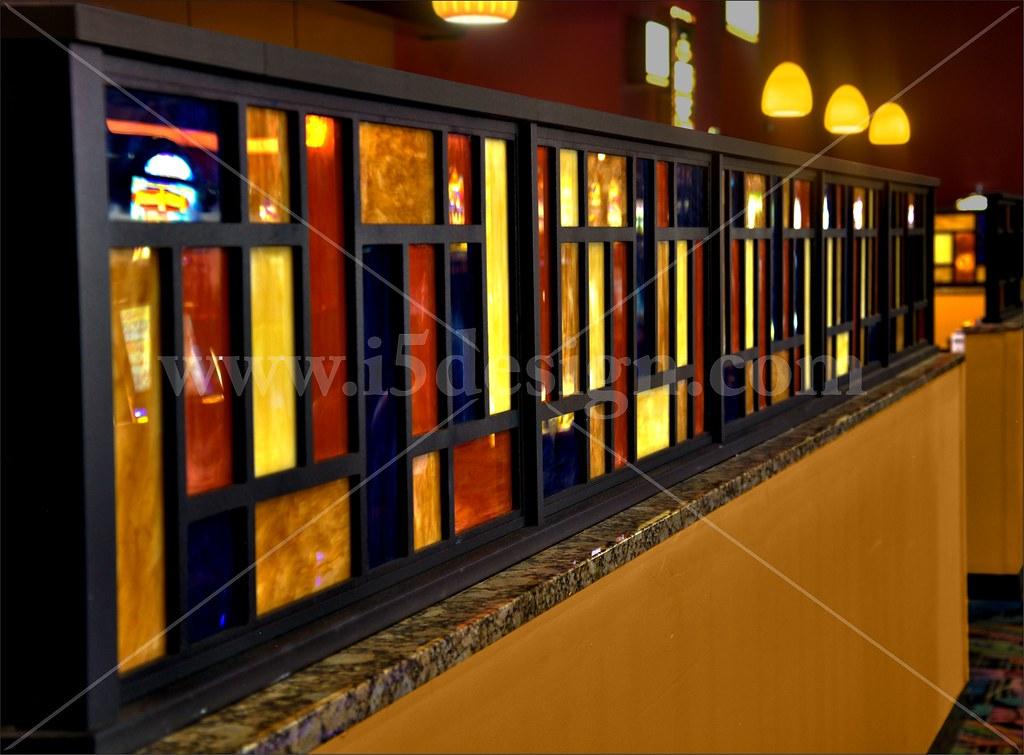 Custom D 233 Cor Elements Custom Half Wall Interior Restau
