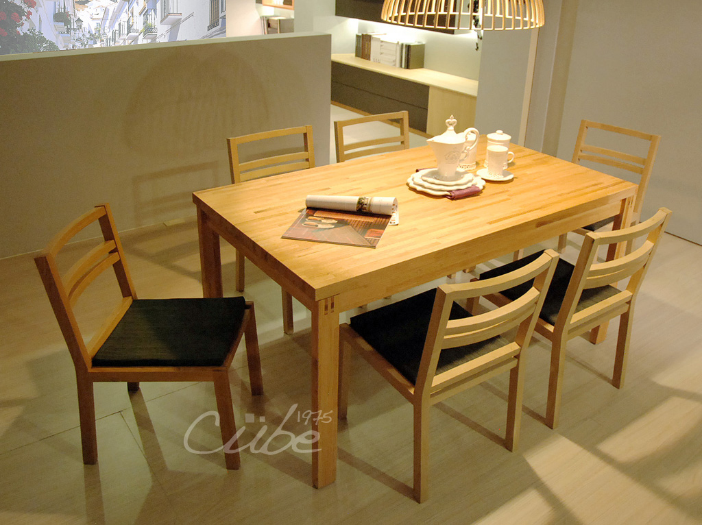 oak kitchen chairs food slicer 餐廳 s021 20110627 橡木餐桌椅x6 實木系統櫃 系統廚具 百昇名廚 by