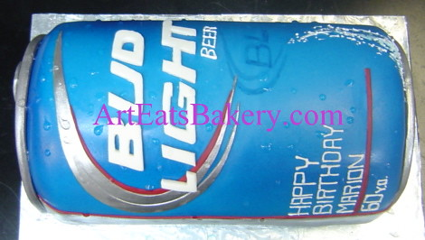 3d Giant Bud Light Beer Can Unique Modern Fondant 60th Bir